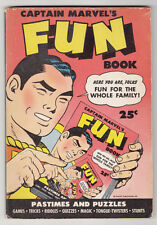 CAPTAIN MARVEL'S FUN BOOK, PASTIMES AND PUZZLES, GAMES, 1944, UNUSED & UNMARKED