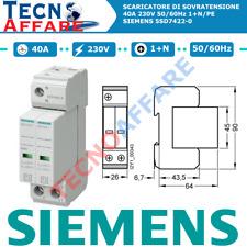 Scaricatore di Sovratensione tipo 2 classe C 2 poli 2P 230V Siemens 5SD7422-0