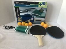 Emerson Portable Table Tennis Set w/2 Paddles, Net And 6 Ping Ping Balls