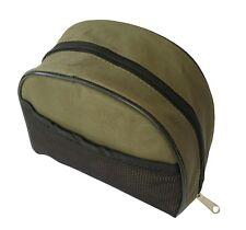 MDI Specimen Zipped Green Fishing Reel Case with Mesh Pocket - (Size 20x18x9cm)