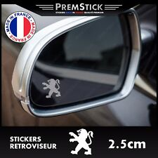 Kit 3 Stickers Retroviseur Voiture Peugeot - Autocollant auto, retro ref2