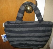 Fun Outing Feather Roo Rootote Purse Handbag Navy/Gray Wool Hand Warming NWT