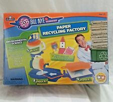 Bill Nye Science PAPER RECYCLING FACTORY Elmer's Teachers School Toy craft kit