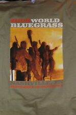 """2008 World Bluegrass-Nashville� T-Shirt – Music Event Rare Hard to find-L"