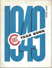 1949 Chicago Cubs Baseball Yearbook magazine, Andy Pafko, Phil Cavarretta - VGEX