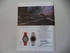 advertising Pubblicità 1988 OROLOGIO EBERHARD CROISIERE