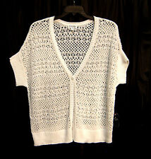 OPEN WEAVE ONE BUTTON FRONT DOLMAN CARDIGAN JACKET SWEATER TOP~3X~2X~NEW