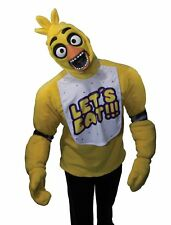 Five Nights at Freddy's Chica Costume Adult Shirt Mask Horror Video Game Small