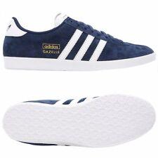 adidas Originals Gazelle OG Mens UK 8.5 Navy & White Suede Sneakers Trainers