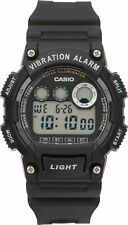 Casio Men's Black Resin Strap and Case  Vibration Alarm Backlight Digital Watch