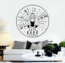 Vinyl Wall Decal Only Good Vibes Yoga Meditation Stickers Mural (ig4333)