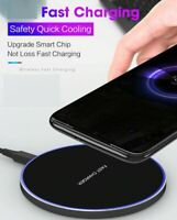 Led Qi Wireless Charger Fast Charge Pad For Samsung iPhone XS Max X XR 11 12 Pro