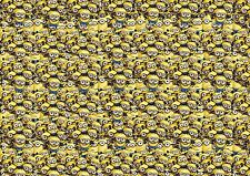 MINION STICKERBOMB SHEET- SIZE:1200mm X 300mm (CARTOON/STICKER/DRIFT/JDM) COLOUR