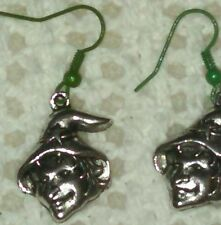 NEW Halloween Wicked Witch Earrings On Green French Wire Hooks Spooky Fun!