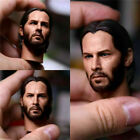 1/6 Scale Keanu Reeves PVC Head Sculpt Fit 12'' Male Action Figure Toy
