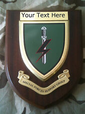 Special Forces Support Group Parachute SFSG Personalised Military Wall Plaque