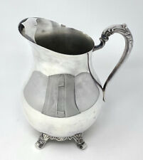 Vintage F.B.Rogers 817 Silver Plate Footed Water Pitcher with Ice Guard 3707
