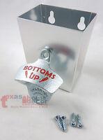 BOTTOMS UP Bottle Opener Combo with Metal Cap Catcher Set Wall Mounted w/ SCREWS