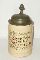 Old Brewery Mug Civil Brauhaus München Beer Mug Jug Brewery Stone