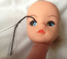 DOLL hair for RE-ROOTING replacement EYELASHES for Sindy BJD + Fashion Dolls