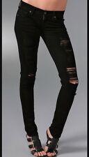 Citizens Of Humanity Avedon 29x33 Black Destroyed Skinny Jeans Rocket Racer 30