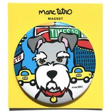 "*NWT* Marc Tetro - Schnauzer in Times Square, NYC Blue Magnet 3"" Round"
