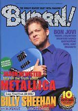 Burrn! Heavy Metal Magazine October 2001 Japan Newsted Megadeth Bon Jovi