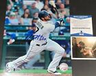 Mitch+Haniger+Mariners+Autographed+Signed+8x10+Photo+Beckett+WITNESS+COA+Hit+1+-