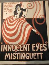 """Rare J.H. Tooker vintagraph Mistinguett """"Innocent Eyes"""""""