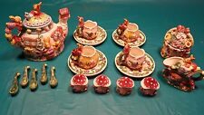 Garden Party 20 Piece Bunny Rabit Tea Set. Good Condition.