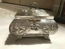 Stunning Vintage Hazorfim Judaica Sterling Silver Etrog Box- Repousse- 372 Gram