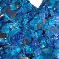 Caribbean Blue Blend Reflective Fireglass- Fireplace & Fire Pit Glass Crystals