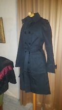 Authentic DSQUARED2 ITALY BLACK TRENCH-COAT SIZE I 44