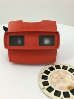 Vintage Red View-master Viewer Stereoscope Made in Belgium with Original Reel