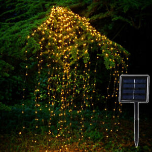 Long LED Solar Powered Fairy Garden Lights String Outdoor Party Wedding Xmas