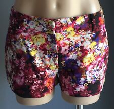 Gorgeous SPORTSGIRL Bright Multi Colour Floral Print Shorts Size 10