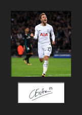 Christian Eriksen #1 - Tottenham Hotspur Signed Photo A5 Mounted Print - FREE DE