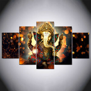 Elephant God Canvas Pattern Painting Abstract Wall Home Unframed Hanging Decor