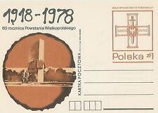 Poland prepaid postcard (Cp 716) Wielkopolska Uprising