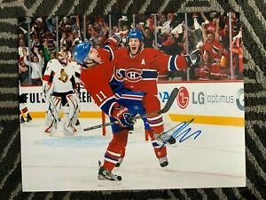 Montreal Canadiens Brendan Gallagher Signed Autographed 11x14 NHL Photo COA