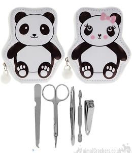 Zipped PANDA MANICURE SET KEYRING child wallet bag decoration Panda lover gift