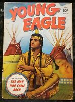 🍁 Young Eagle Vol, #4 ( Fawcett Pub. 1951 ) Printed in Canada Canadian Edition