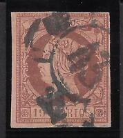 Spain Sc.52 (Ed.54) 19c Brown Used With Cert. Comex