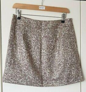 Et Vous Women's Skirt Size 10 Gold Tone Shiny Mini Short Party Eveningwear