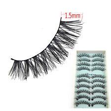 10Pairs/Lot Gorgeous 3D Long Cross False Eyelashes Soft EyeLashes Messy Handmade