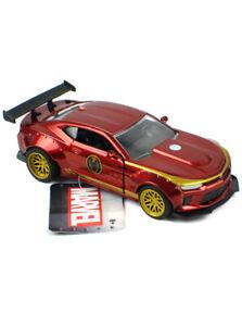 Jada Toys Die-Cast Metal 2016 Chevy Camaro Iron Man Model Car Marvel 1/32 Scale
