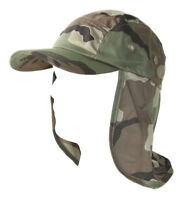 Top Headwear Vacationer Flap Hat With Full Neck Cover - Camoflauge