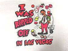 Las Vagas Gambling XL Graphic T Shirt Mens New Neon Humor Tee Vtg