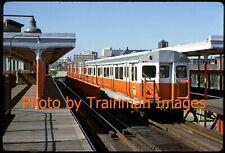 New ListingSubway Slide (Orig.): Mbta 01100-Type Cars, Dover Station, Boston - 1979