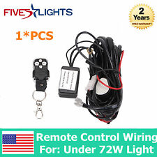 1XRemote Control Wiring Harness Kit Switch Relay Led Work Light Bar FOR 18W-72W
